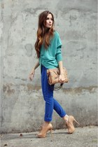 aquamarine Renner cardigan - blue denim Renner pants