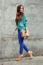 aquamarine Renner cardigan - blue denim Renner pants