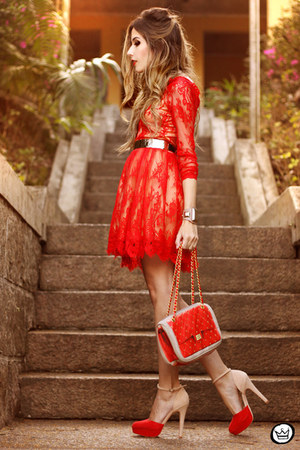 ruby red Pomikaki bag - red Feeluxury dress