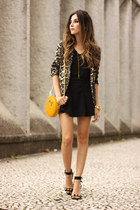 black Dafiti skirt - mustard Shoulder blazer