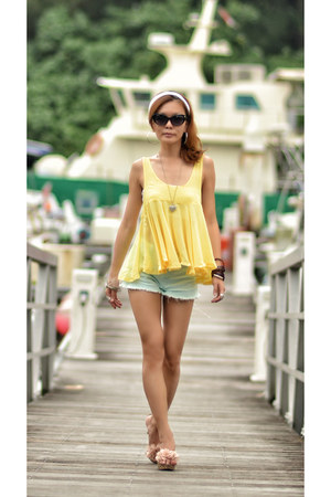 TWFS top - TWFS shorts - Chanel sunglasses