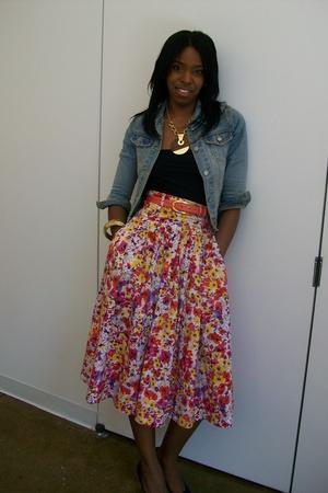 jacket - calvin klein dress - H & M skirt