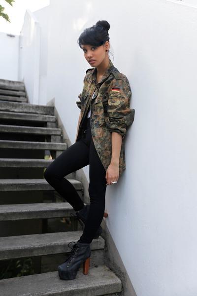 black Jeffrey Campbell boots - black Pimkie leggings