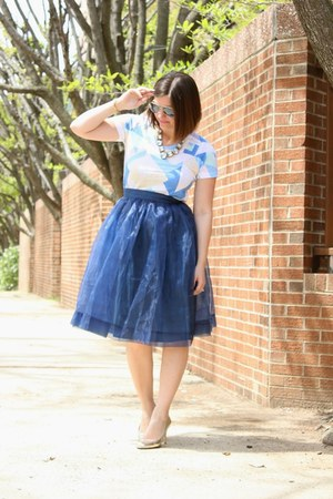 Chicwish skirt - snake print kate spade heels - linen-cotton JCrew t-shirt
