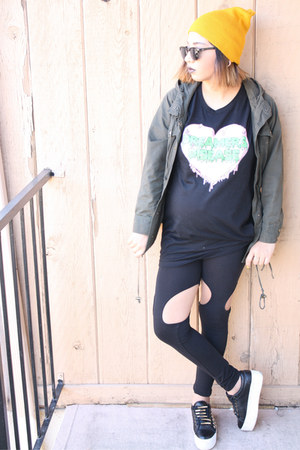Target hat - Forever 21 jacket - Youthdecay shirt - Jeffrey Campbell sneakers