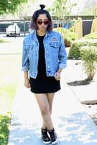 Forever 21 shoes - Tobi dress - thrifted vintage jacket