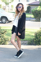 thrifted sweater - Forever 21 shorts - Urban Outfitters sneakers