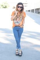 t-shirt Walmart shirt - denim jeans Forever 21 jeans - zeroUV sunglasses