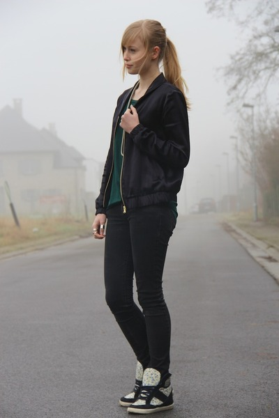black bomber H&M jacket