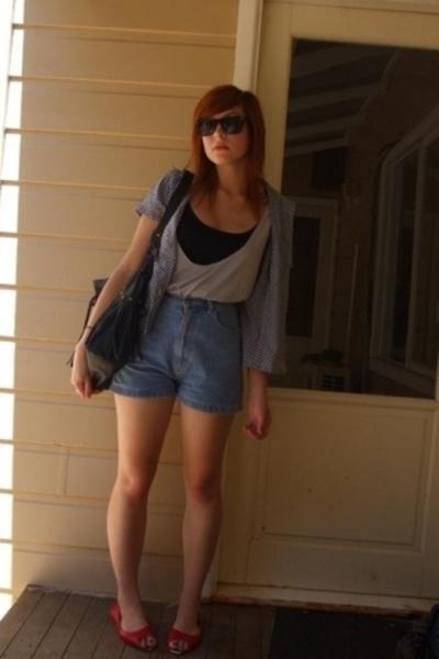 Secondhand shirt - supre top - V&M top - vintage sportsgirl shorts - sportsgirl