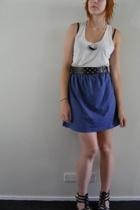 V&M top - Ebay necklace - supre belt - handmade skirt - Ebay shoes