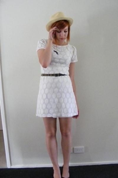 cotton on hat - diva necklace - Big W dress - Sportsgirl belt - Target shoes