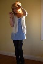 Secondhand vest - supre dress - Deborah K pants - Barkins shoes