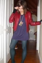 jacket - dress - tights - tights