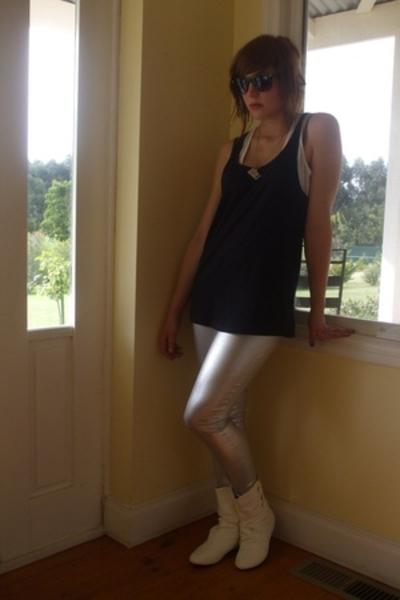 V&M top - supre dress - cotton on pants - Barkins shoes - Ebay necklace