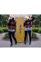 Living Doll jacket - Target t-shirt - cotton on hat - Target jeans