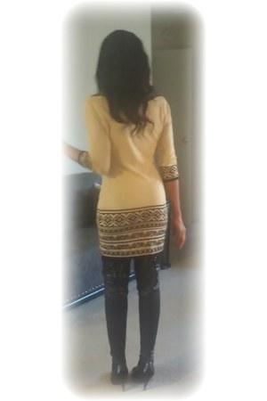 knit Marshalls dress - Victorias Secret boots