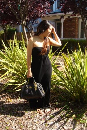 maxi dress homemade dress - denim jacket True Religion jacket - coach bag