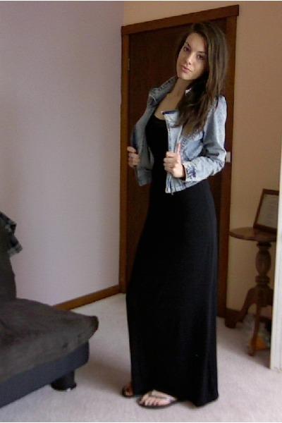 8d95616945 Black Maxi Dresses, Blue Acid Wash Denim Jackets |