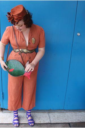 orange 1940s vintage from etsy suit - orange 1950 vinatge from clevernettle on e