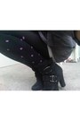 Charcoal-gray-macys-jacket-black-polka-dots-macys-leggings