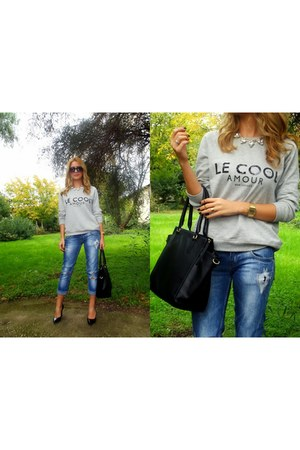 Mango sweatshirt - H&M bag