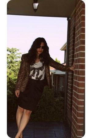 Zara blazer - H&M skirt
