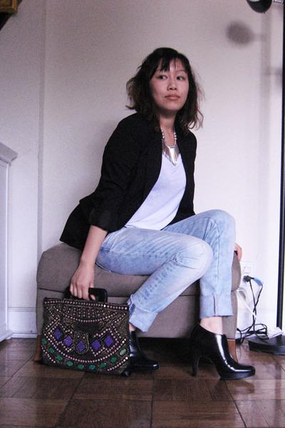 united colors of benetton blazer - American Apparel t-shirt - Zara jeans - izaac