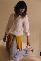 Zara blouse - Zara jeans - H&M - bakers old