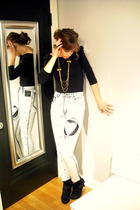 H&M shirt - vintage jeans - Forever 21 accessories - boots
