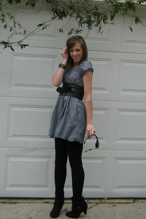Forever 21 dress - Forever 21 belt - Forever 21 bracelet - Forever 21 leggings -