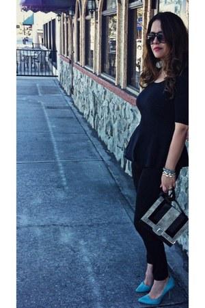 cotton peplum kohls top - Charlotte Russe heels