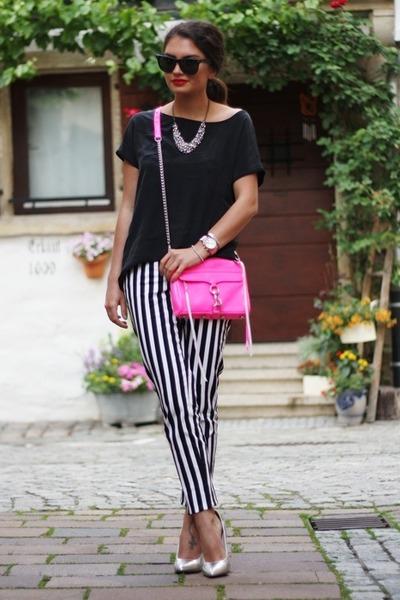 pink rebecca minkhoff bag - black Hallhuber pants