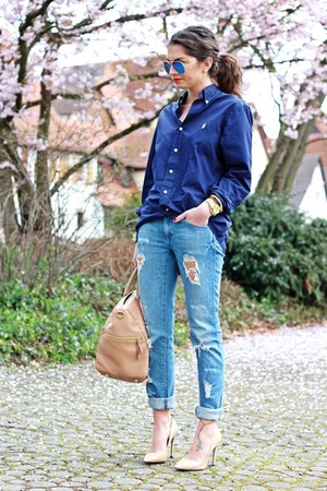 navy Ralph Lauren blouse