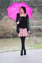 bubble gum Mina UK dress - hot pink romwe accessories
