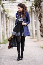 navy lookbookstore jacket - dark brown Primark scarf - black Prada bag