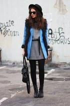 blue Zara blazer - black vest