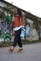 tawny H&M sweater - blue Primark pants - sky blue H&M blouse
