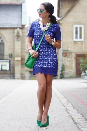 blue Sheinside dress
