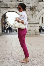 eggshell Love Moschino bag - hot pink Hallhuber pants