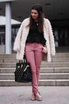 Michael Kors bag - romwe coat - Pimkie jeans - dune pumps