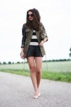 black lookbookstore jacket - camel Nelly pumps