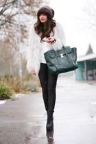 black Jeffrey Campbell boots - silver lookbookstore jacket