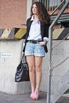 Primark blazer - H&M shorts - H&M blouse - romwe heels