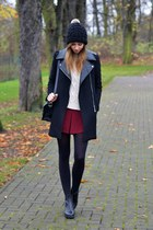 black vagabond boots - black H&M hat - black Chicwish jacket