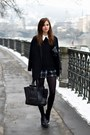 Black-vagabond-boots-black-choies-coat-black-celine-bag-gray-choies-shorts