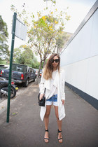 navy ombre Zara shorts