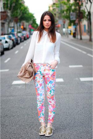 ivory studded Zara blouse