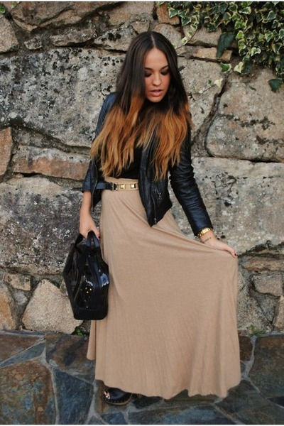 neutral romwe skirt