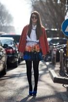 crimson Zara skirt